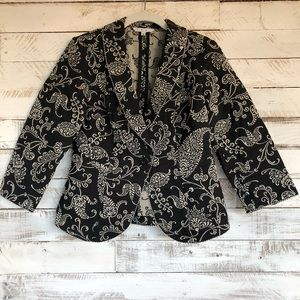 Cabo Jacket Brocade, Black Shawl collar, size 4